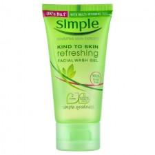 Simple Refreshing Facial Wash Gel Travel Sized Mini 50ml