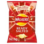 Retail Pack Walkers Ready Salted Crisps 32 x 32.5g Pack Box