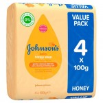 Johnsons Baby Soap with Honey 4 Bar Pack