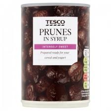 Tesco Prunes In Syrup 420g tin