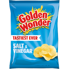 Golden Wonder Salt and Vinegar Crisps 32 x 32.5g box