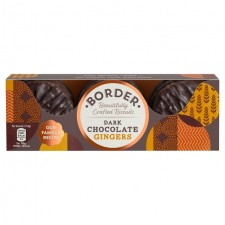 Border Dark Chocolate Ginger Biscuits 150g