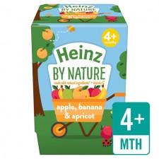 Heinz Dessert Pots 4 Month Apple Banana and Apricot Fruit Pots 2 x 100g