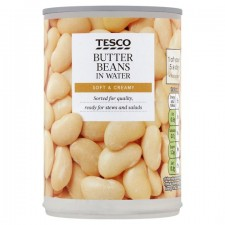 Tesco Butter Beans in Water 400g Tin