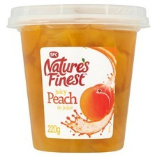 Natures Finest Peach Chunks In Juice 220g