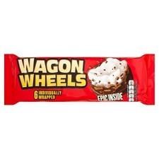 Burtons Original Wagon Wheels 6 Pack.
