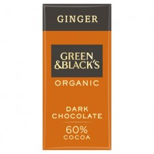 Green and Blacks 60% Dark Chocolate With Ginger 90g