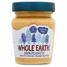 Whole Earth 100% Nuts Smooth Peanut Butter 227G