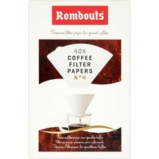 Rombouts Coffee Filter Papers 4 Cups 40