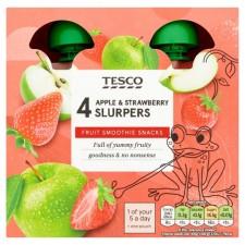 Tesco Goodness Apple and Strawberry Fruit Slurpers 4x90g