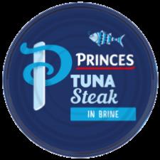 Retail Pack Princes Tuna Steak in Brine 185g  x 12