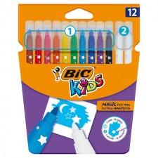Bic Kids Mini Colour and Erase Felt Tip Pens Assorted Colours 12 per pack
