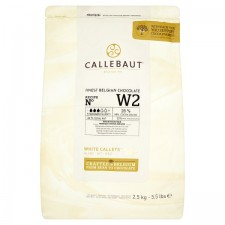 Callebaut Finest Belgian Chocolate White Callets From Roasted Whole Cocoa Beans 2.5kg