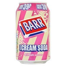 Retail Pack Barr American Cream Soda 24 x  330ml