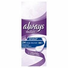 Always Discreet Large Liners 24 per pack
