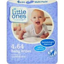 Sainsburys Little Ones Lightly Fragranced Baby Wipes 64 x 4