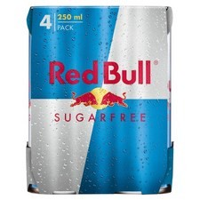 Red Bull Sugar Free Drink 4 X 250ml Cans