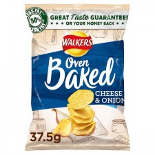 Retail Pack Walkers Baked Cheese and Onion Snacks 32 x 37.5g Pack Box