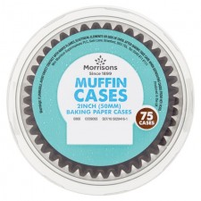 Morrisons Muffin Cake Cases 75 per pack