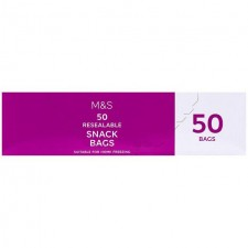 Marks and Spencer Resealable Snack Bags 50 per pack