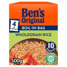 Bens Original Boil In The Bag Wholegrain Rice 500g