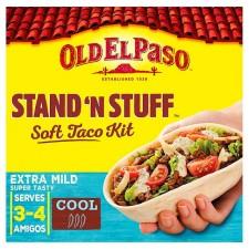 Old El Paso Stand N Stuff Soft Taco Kit Extra Mild 329g