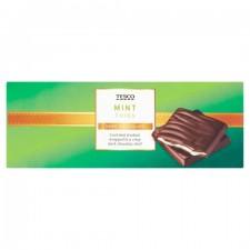 Tesco Dark Chocolate Mint Thins 200g