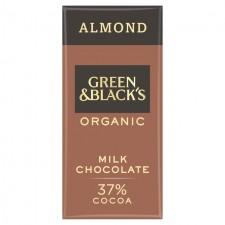 Green and Blacks Almond 37% Milk Chocolate Bar 90g