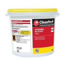 Clean Pro Professional Hygiene Systems Channel Blocks Yellow 3kg