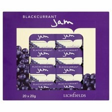 Lichfields Blackcurrant Jam Individual Portions 20x20g