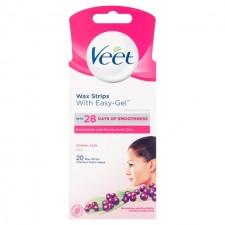 Veet Face Wax Strips Normal Skin 20 per pack
