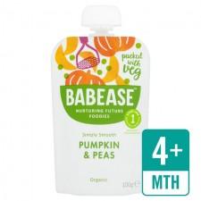 Babease Organic Pumpkin and Peas 100g
