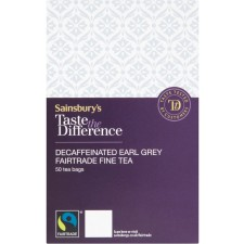 Sainsburys Taste the Difference Earl Grey Decaffeinated 50 Teabags