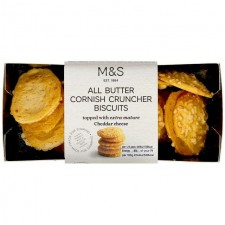 Marks and Spencer Cornish Cruncher Cheddar Cheese Biscuits 80g