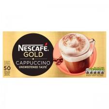 Catering Size Nescafe Gold Cappuccino Unsweetened Taste 50 Sachet Carton
