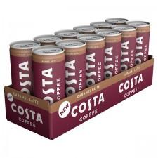 Costa Coffee Caramel Latte 12 x 250ml Cans