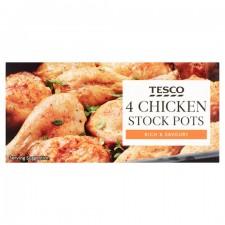 Tesco Chicken Stock Pot 4 Pack 112G