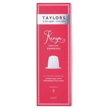 Taylors Kenyan Nespresso Compatible Coffee Capsules 10 per pack